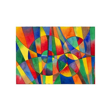 Color Shards 5'x7'Area Rug