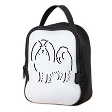 Japanese Chin Sketch Neoprene Lunch Bag
