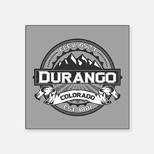 "Durango Grey Square Sticker 3"" x 3"""