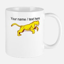 Custom Yellow Mountain Lion Mug