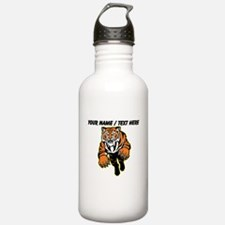 Custom Tiger Mascot Water Bottle