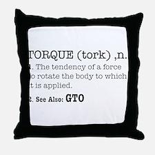 Torque defined Throw Pillow