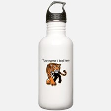 Custom Bengal Tiger Mascot Water Bottle