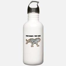 Custom White Tiger Water Bottle