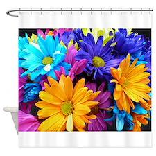 Neon Bouquet Arrangement Shower Curtain