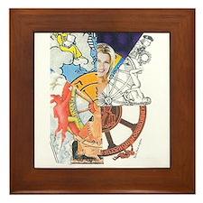 Wheel of Fortune Tarot Framed Tile