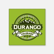 "Durango Green Square Sticker 3"" x 3"""