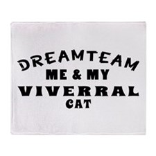 Viverral Cat Designs Throw Blanket