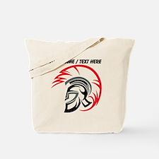 Custom Roman Warrior Helmet Tote Bag