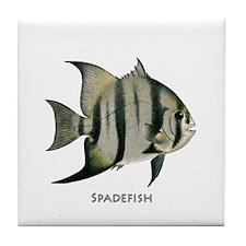 Spadefish Logo Tile Coaster