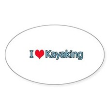 I Heart Kayaking Logo Bumper Stickers
