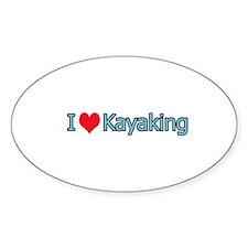 I Heart Kayaking Logo Decal