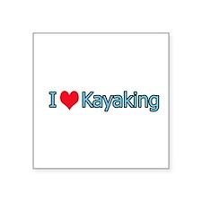 I Heart Kayaking Logo Sticker