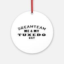 Tuxedo Cat Designs Ornament (Round)