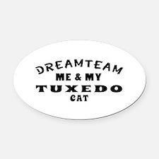 Tuxedo Cat Designs Oval Car Magnet