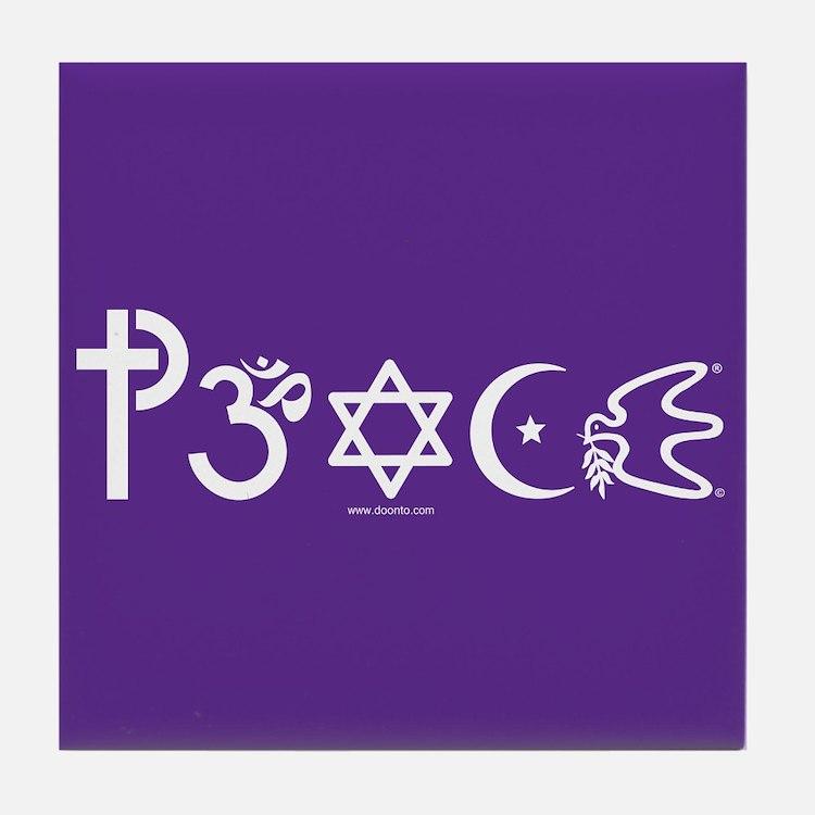 Peace-OM Tile Coaster