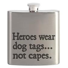 Heroes wear dog tags Flask