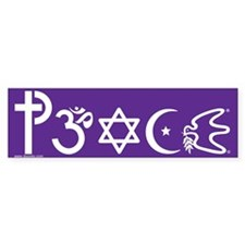 Peace-OM Bumper Car Sticker