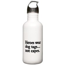 Heroes wear dog tags Water Bottle