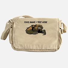 Custom Badger Cartoon Messenger Bag