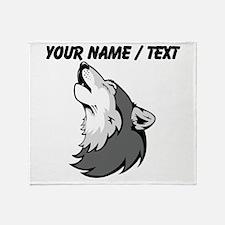 Custom Howling Wolf Throw Blanket