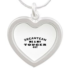 Toyger Cat Designs Silver Heart Necklace
