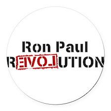 Unique Ron paul revolution Round Car Magnet
