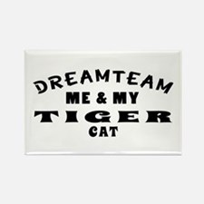 Tiger Cat Designs Rectangle Magnet