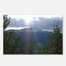 Cool Mountain peak Postcards (Package of 8)