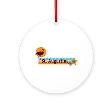 St. Augustine - Beach Design. Ornament (Round)