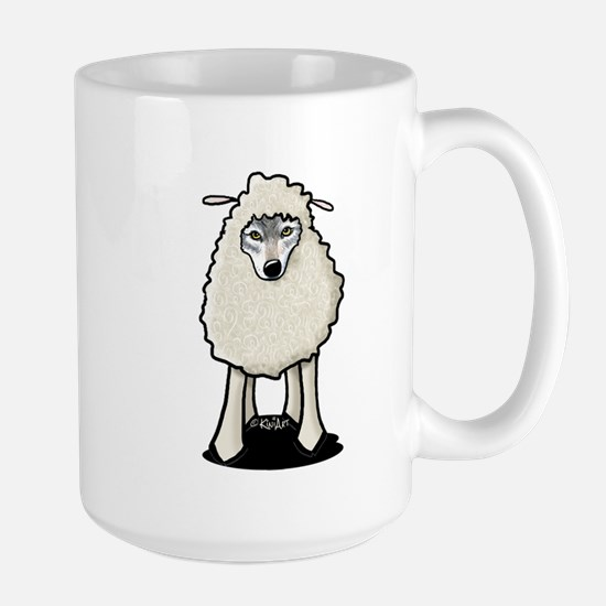 Wolf In Sheep's Clothing Large Mug
