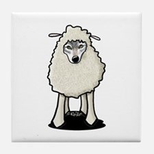 Wolf In Sheep's Clothing Tile Coaster