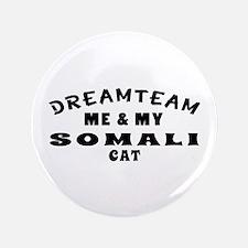 """Somali Cat Designs 3.5"""" Button"""