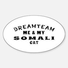 Somali Cat Designs Sticker (Oval)