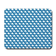Whale Blue on White Mousepad