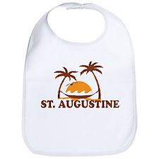 loSt. Augustine - Palm Trees Design. Bib