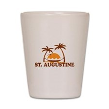 loSt. Augustine - Palm Trees Design. Shot Glass
