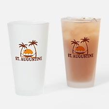 loSt. Augustine - Palm Trees Design. Drinking Glas
