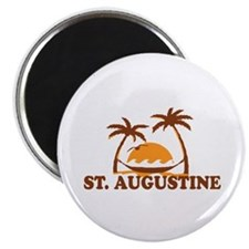 loSt. Augustine - Palm Trees Design. Magnet