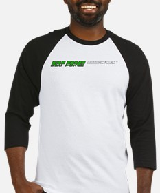Dirt Force text logo Baseball Jersey