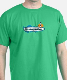 St. Augustine - Palm Surf Design. T-Shirt