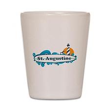 St. Augustine - Palm Surf Design. Shot Glass