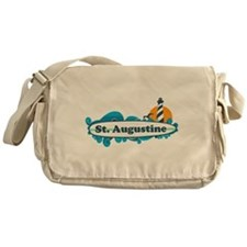 St. Augustine - Palm Surf Design. Messenger Bag