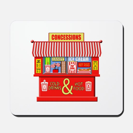 Movie Theater Concessions Stand Mousepad