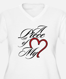 A Piece of My Heart Plus Size T-Shirt