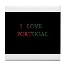 I Love Portugal Tile Coaster