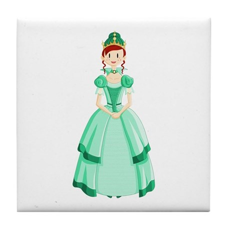 Green Princess Tile Coaster