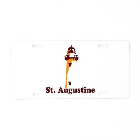 St. Augustine - Lighthouse Design. Aluminum Licens