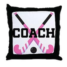 Field Hockey Coach Gift Throw Pillow