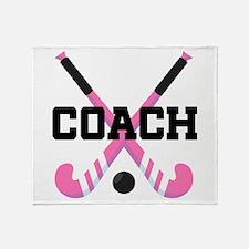 Field Hockey Coach Gift Throw Blanket